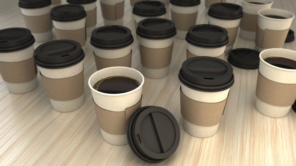 paper cups and sleeves image