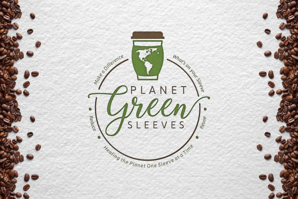 planet green sleeves logo with coffee beans